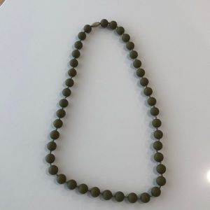 Chew Beads necklace in army green